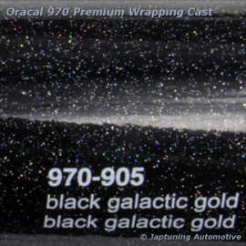 Wrap Folie Oracal Premium 970RA-905 Black Galactic Gold