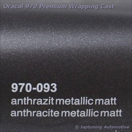 Wrap Folie Oracal Premium 970-093 - Mat Antraciet Metallic