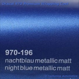 Wrap Folie Oracal Premium 970-196 - Mat Nacht Blauw Metallic