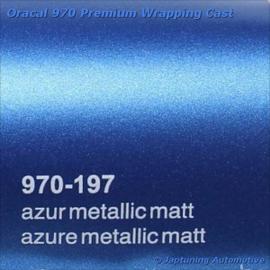 Wrap Folie Oracal Premium 970-197 - Mat Azuur Blauw Metallic
