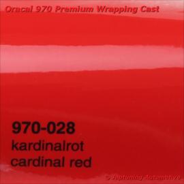Wrap Folie Oracal Premium 970-028 - Kardinaal Rood