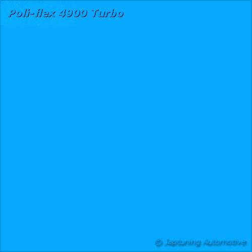 Poli-Flex Turbo Kleding folie - Neon Blauw 4903