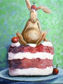 A6 ansichtkaarten konijn set van 8 (B)