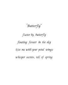A5 wenskaart 'Butterfly'