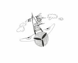 Wenskaart 'Pilotenkonijn'