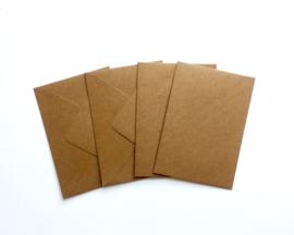 Enveloppen voor A6 kaart (4 stuks - bruin)