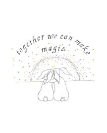 A5 wenskaart 'Together we can make magic'