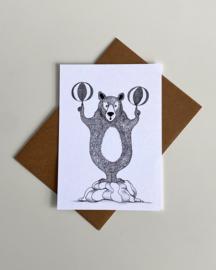 Wenskaart / poster 'Circusbeer'