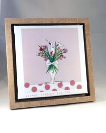 Konijn 'Clowny flowers' 25x25 cm