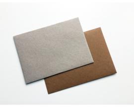 Enveloppen voor A6 kaart (4 stuks - bruin/grijs)