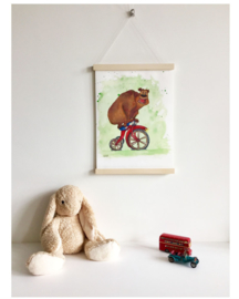A3 poster 'The unBEARable lightness of cycling'