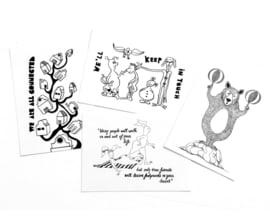 A6 ansichtkaarten  (4 stuks)