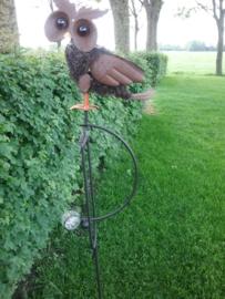 Tuinprikker uil met kleur