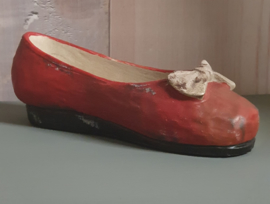 Decoratie schoen rood