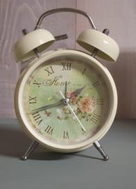 Romantische vintage wekker of klok