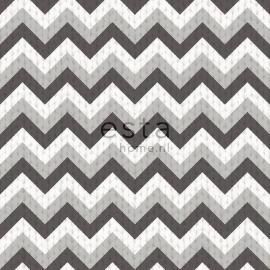036. Esta Home Wolbehang met puntstreep in 2 kleuren grijs