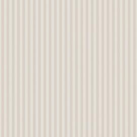 Streepjesbehang beige wit