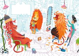KEK Amsterdam Kids mural Alice Hoogstad Lion's Haircut WS-074