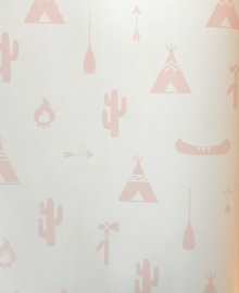 Puck & Rose behang Tipi 27113 roze