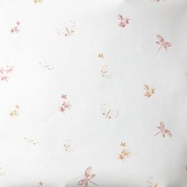 Caselio Bloemen en Vlinderbehang in roze oranje framboos abrikoos