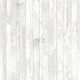 Esta Greenhouse  krijtverf vintage sloophout planken licht warm grijs en mat wit  128836