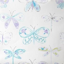 Caselio Vlinderbehang in paars lila turquoise