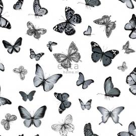 Esta vlinders zwart grijs wit 138512
