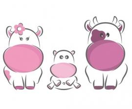 13005 Pink Cows Dutch DigiWalls Olly Fotobehang