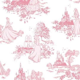 008. Kids@Home Disney Princess Pink Toile behang 70-233