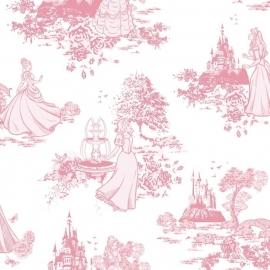 008. Kids@Home Disney Princess Pink Toile behang 70-233