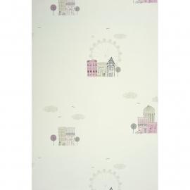 044. Londen Behang in roze beige grijs