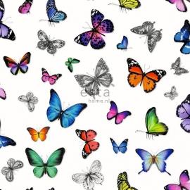 Esta vlinders roze oranje blauw groen 138507