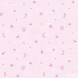 Maan & Sterren roze  136