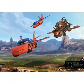 Dutch Wallcoverings Fotobehang Disney Cars Flying