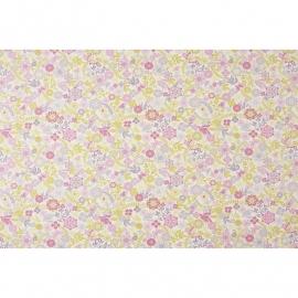 050. Caselio Bloemen en Vlinderstof in roze/groen/beige
