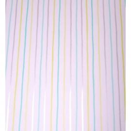 053. Caselio Streepjesbehang in beige/lime/roze