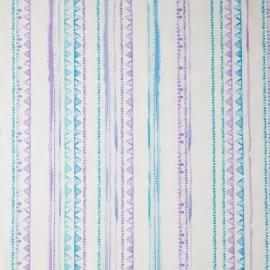 Caselio Streepjesstof in paars teale blauw lila