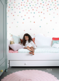 Esta Home Let's Play! PhotowallXL Dots roze 158931