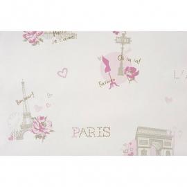 018. Caselio Parijs behang in brons/roze/grijs