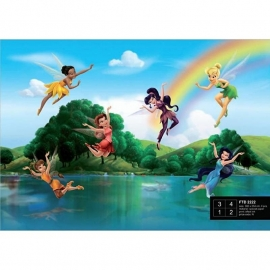 Dutch Wallcoverings Fotobehang Disney Fairies met regenboog FTD2222