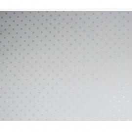 033. Caselio Stipjesbehang in turquoise metalic