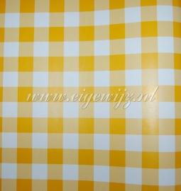 19. Behang per meter Room Seven Geel wit Ruit
