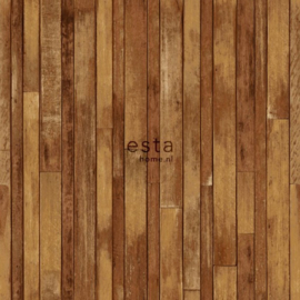 College Sloophout behang  hout kleur 138811