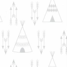 Noordwand Fabulous World behang Tipi 67107-1 grijs
