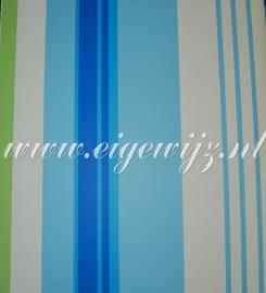 V en V Politiewagenbehang in Blauw Laatste rol 11-10263