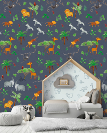 Behangexpresse Morris & Mila Wallprint Wildpark Blue INK7271