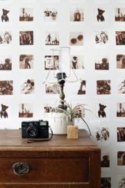 Esta Home FAB Polaroid foto's behang sepia  138845
