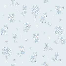 Puck & Rose behang Dieren 27124 blauw