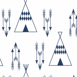 Noordwand Fabulous World behang Tipi 67107-4 blauw