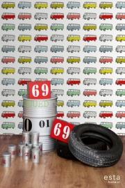 Esta Home Everybody Bonjour WallpaperXXL Vintage Transporters 158713